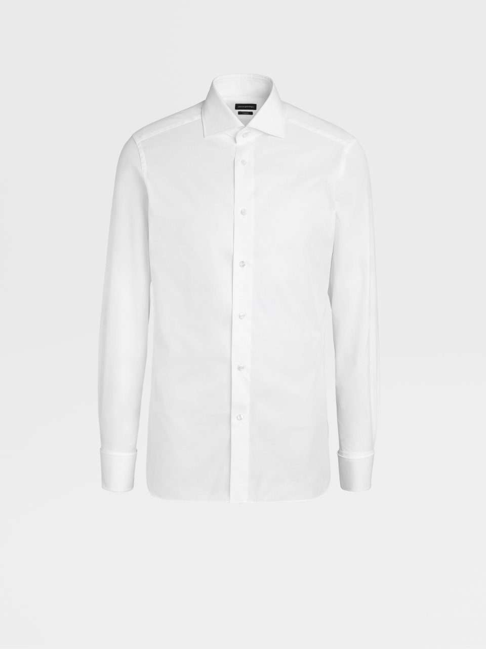 White Trofeo Cotton Shirt With French Cuffs