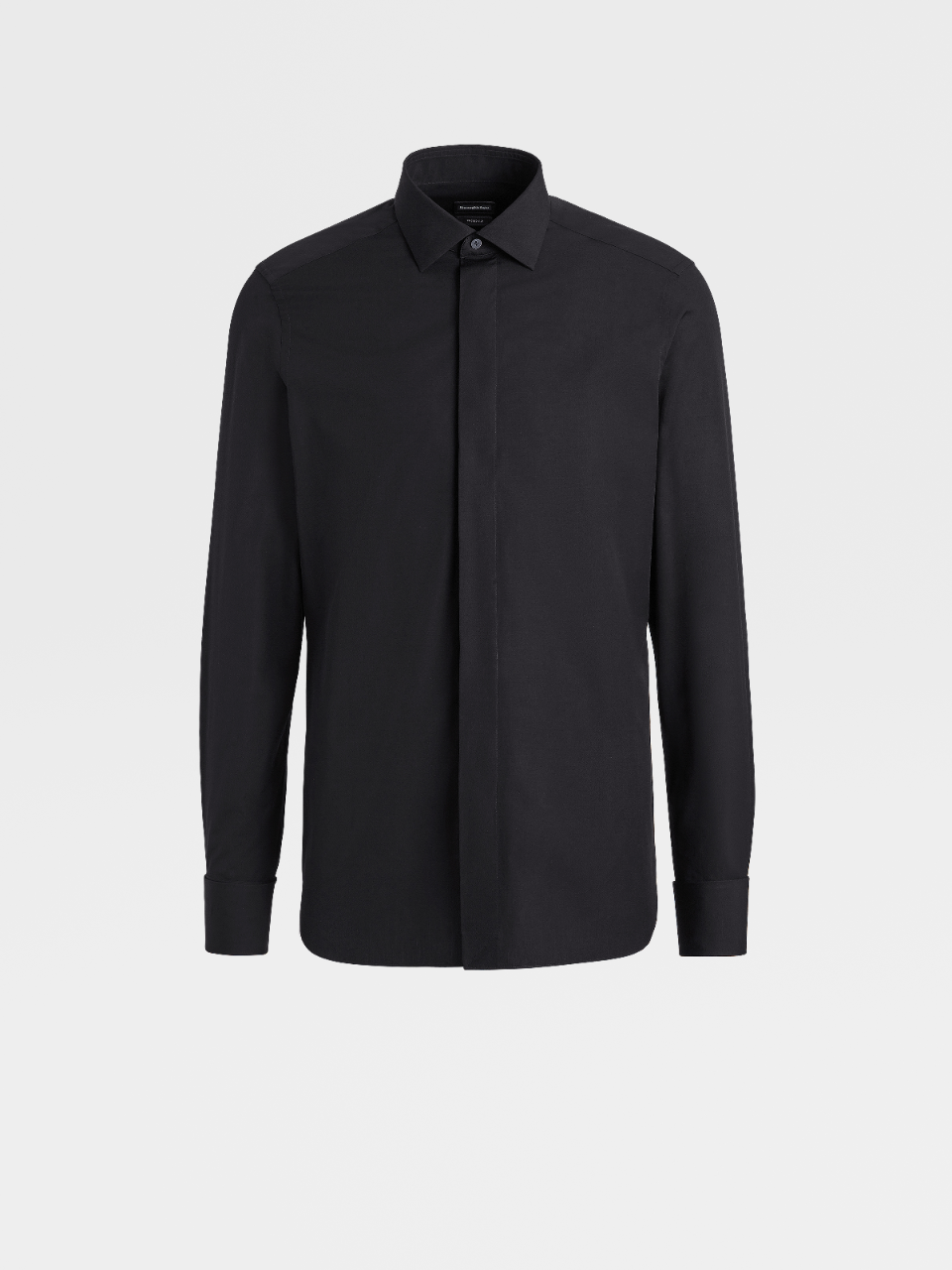 Milano Cotton Solid Cover Placket Shirt