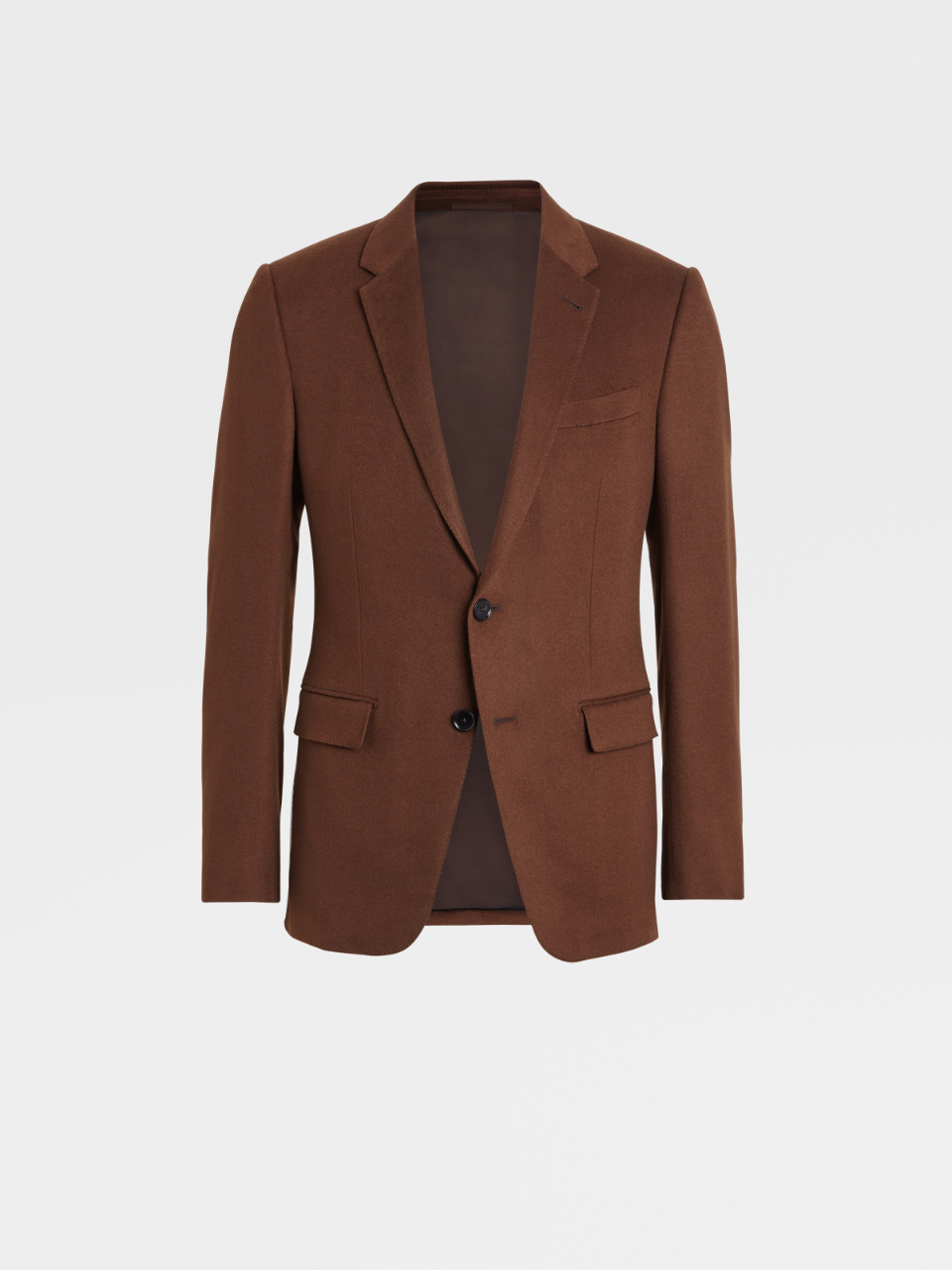 Milano Easy Solid Cashmere Notch Lapel Jacket