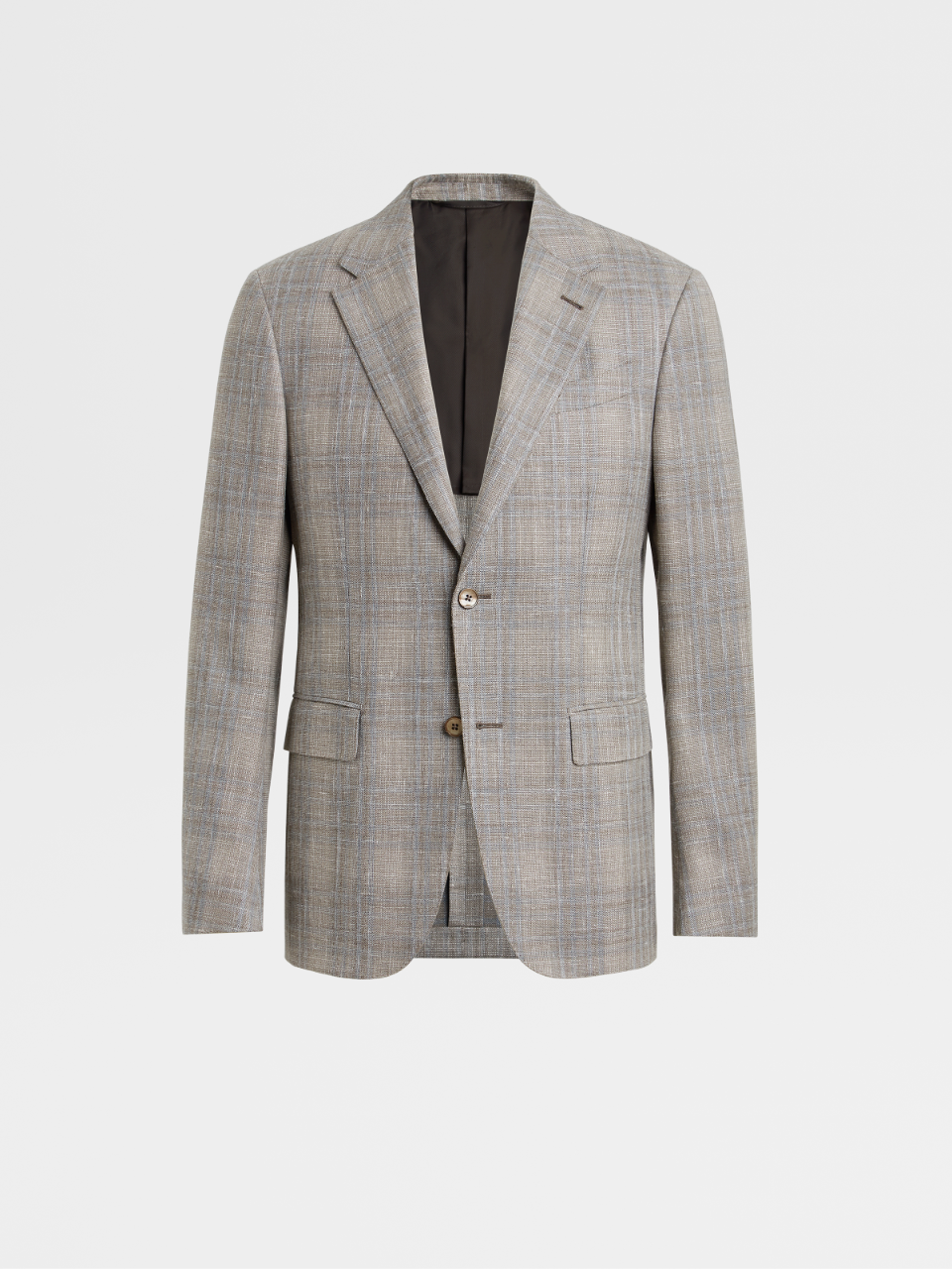 Linen Wool And Silk Jacket Drop 7