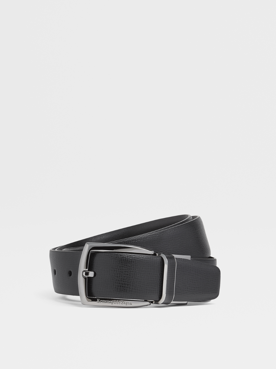 Black Reversible Calfskin Belt
