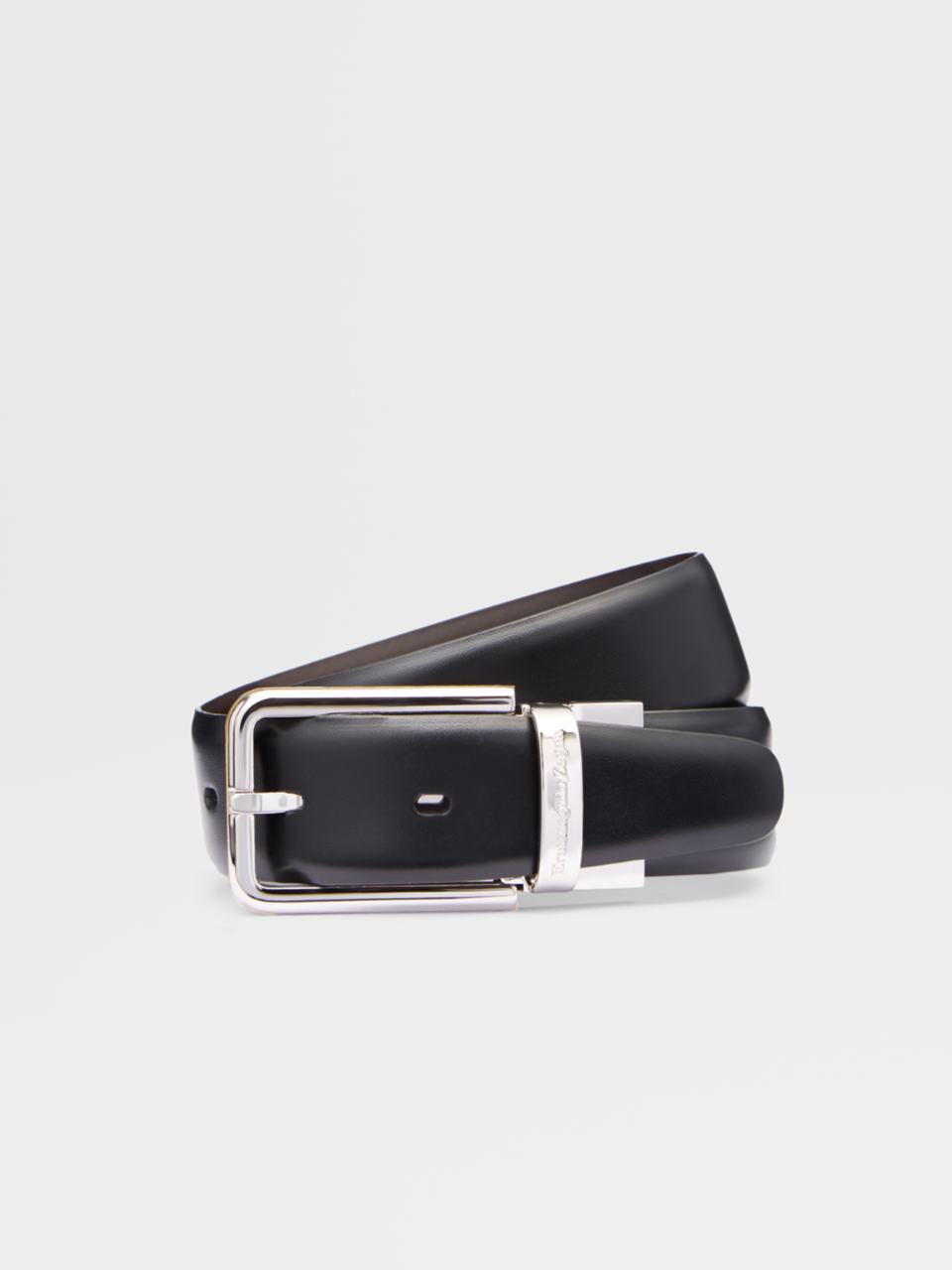 Black Smooth Calfskin Belt