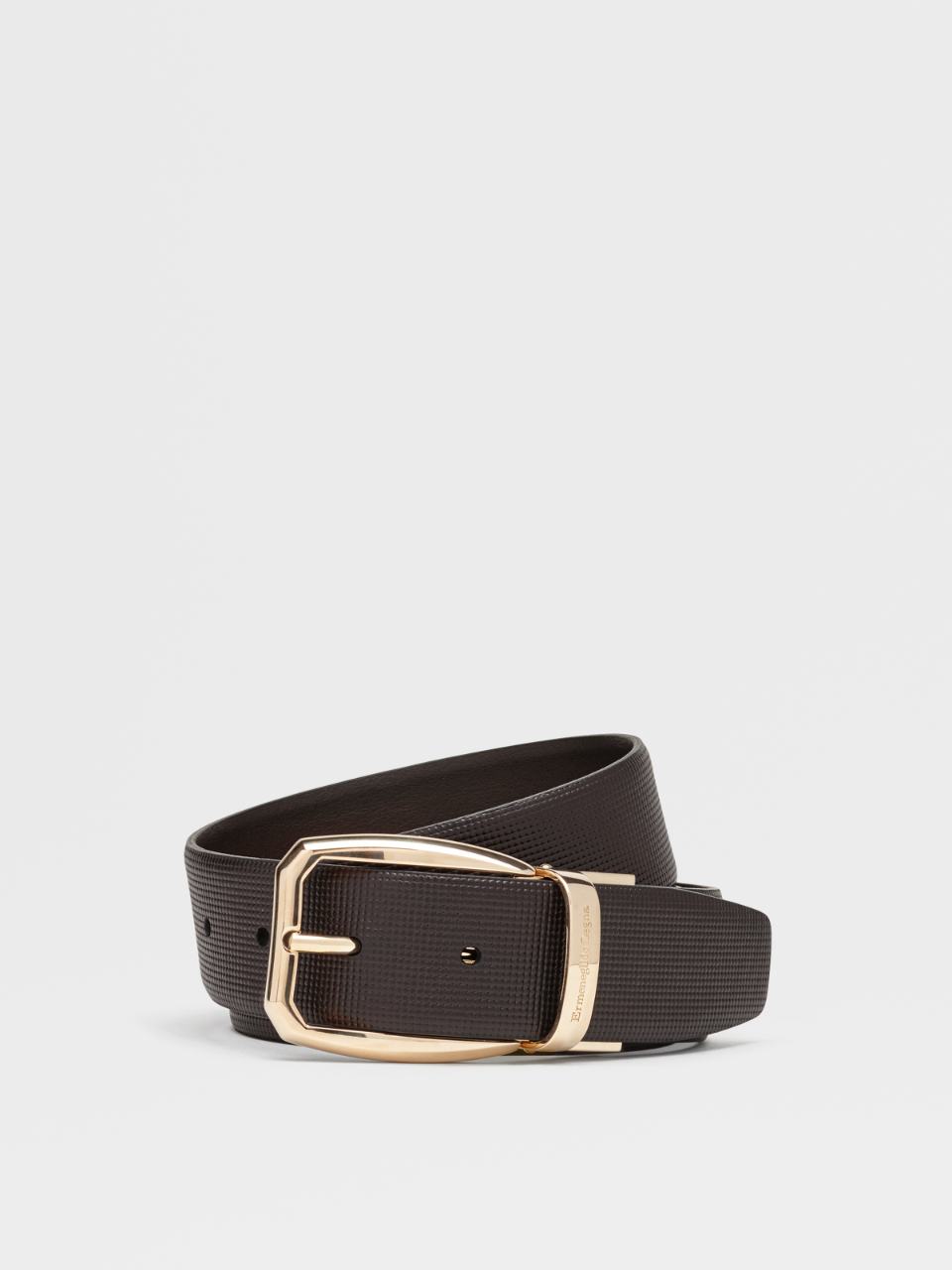 Dark Brown Reversible Calfskin Belt
