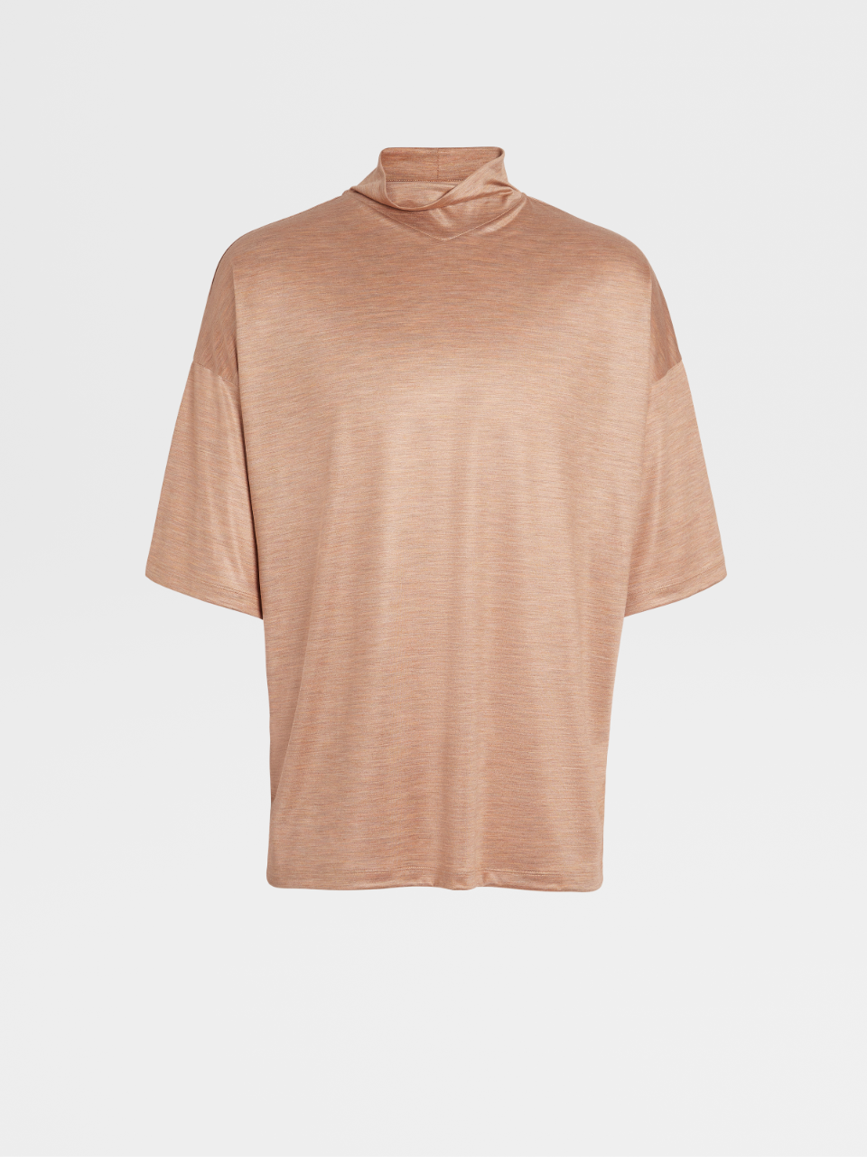 Couture Silk Short-Sleeve Turtleneck