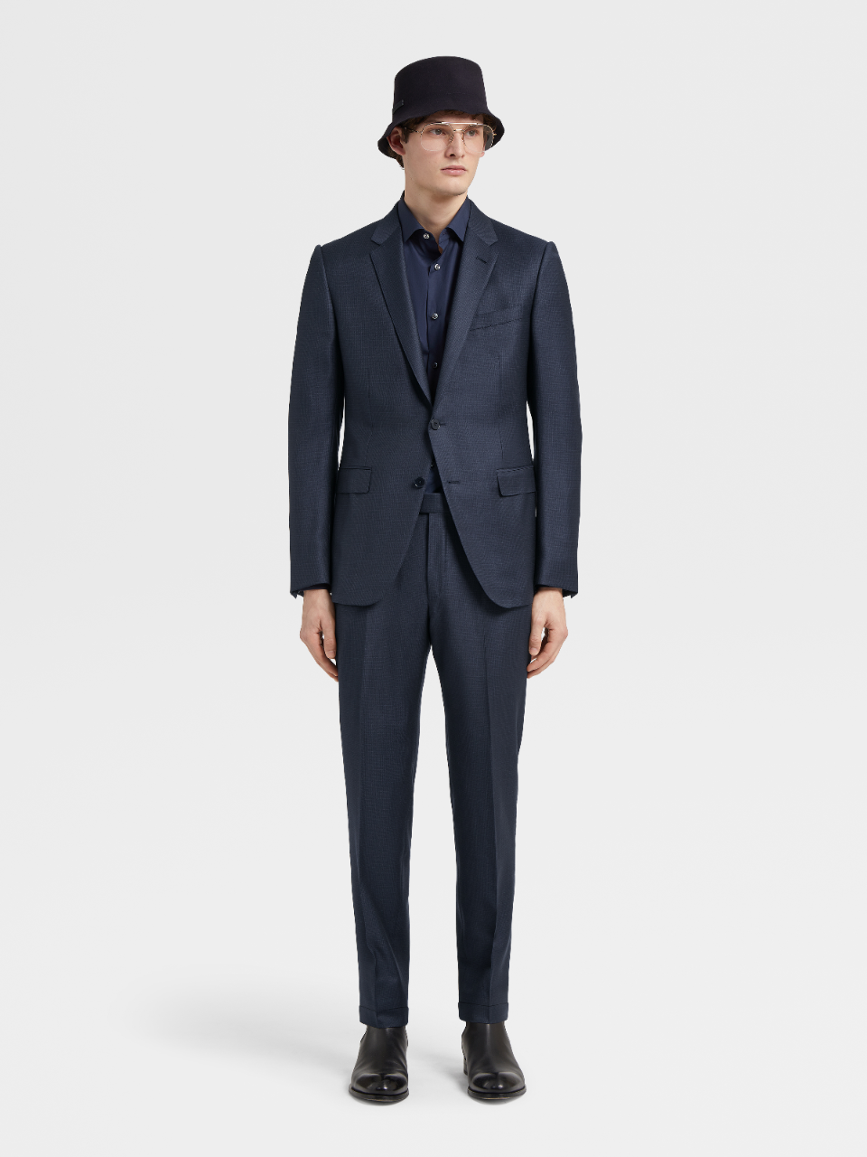 City Textured AchillFarm™ Notch Lapel Suit