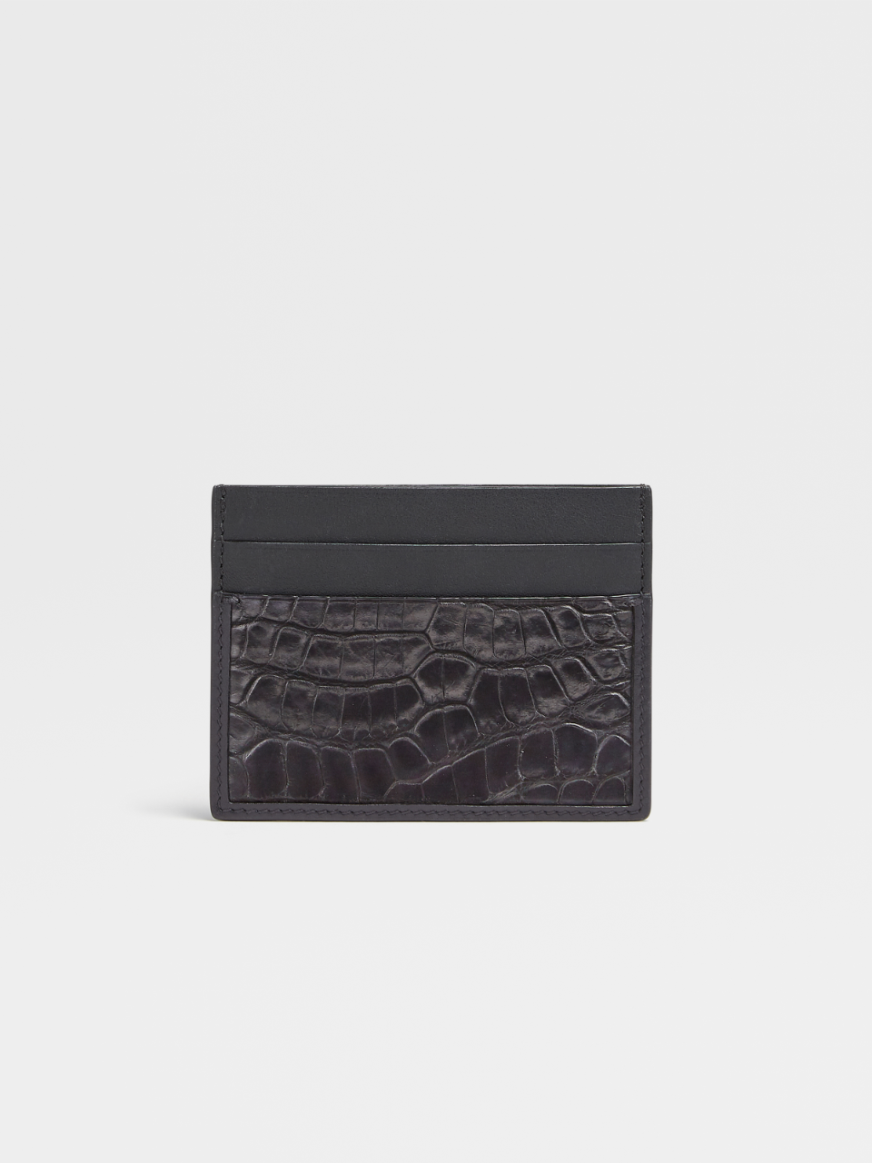 Calfskin And Alligator Simple Card Case