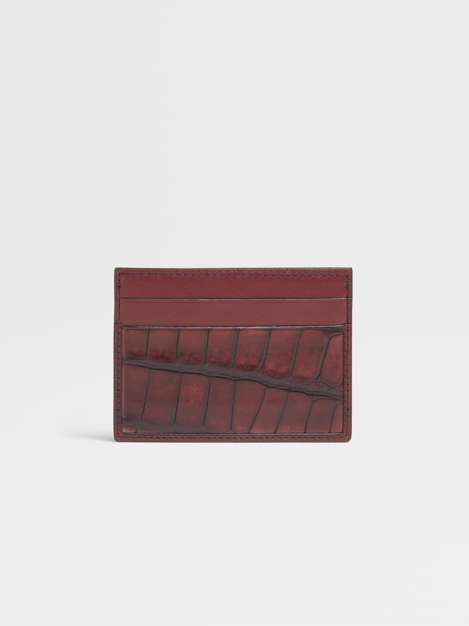 Calf And Alligator Simple Card Case