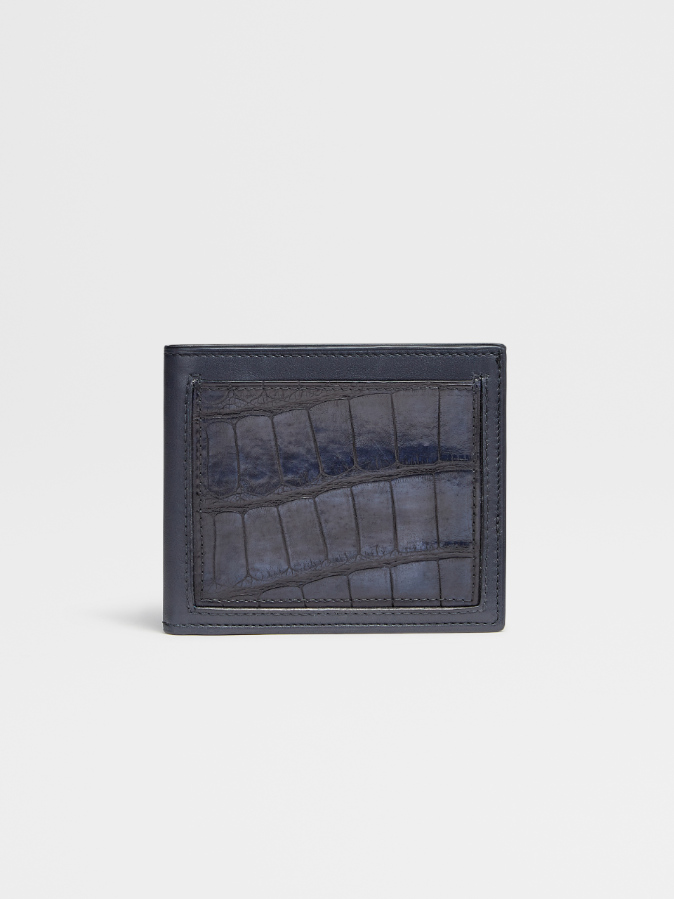 Alligator And Smooth Calfskin 8cc Billfold