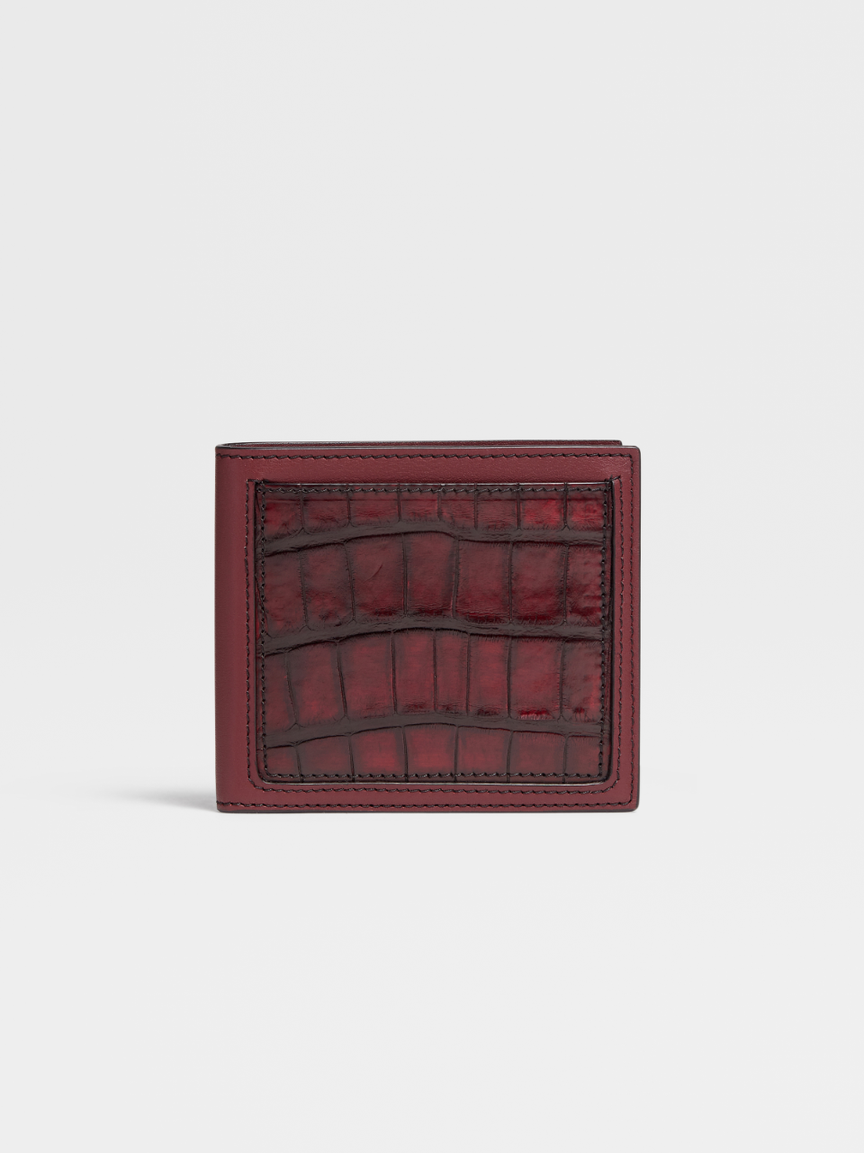 Calf And Alligator 8cc Billfold Wallet