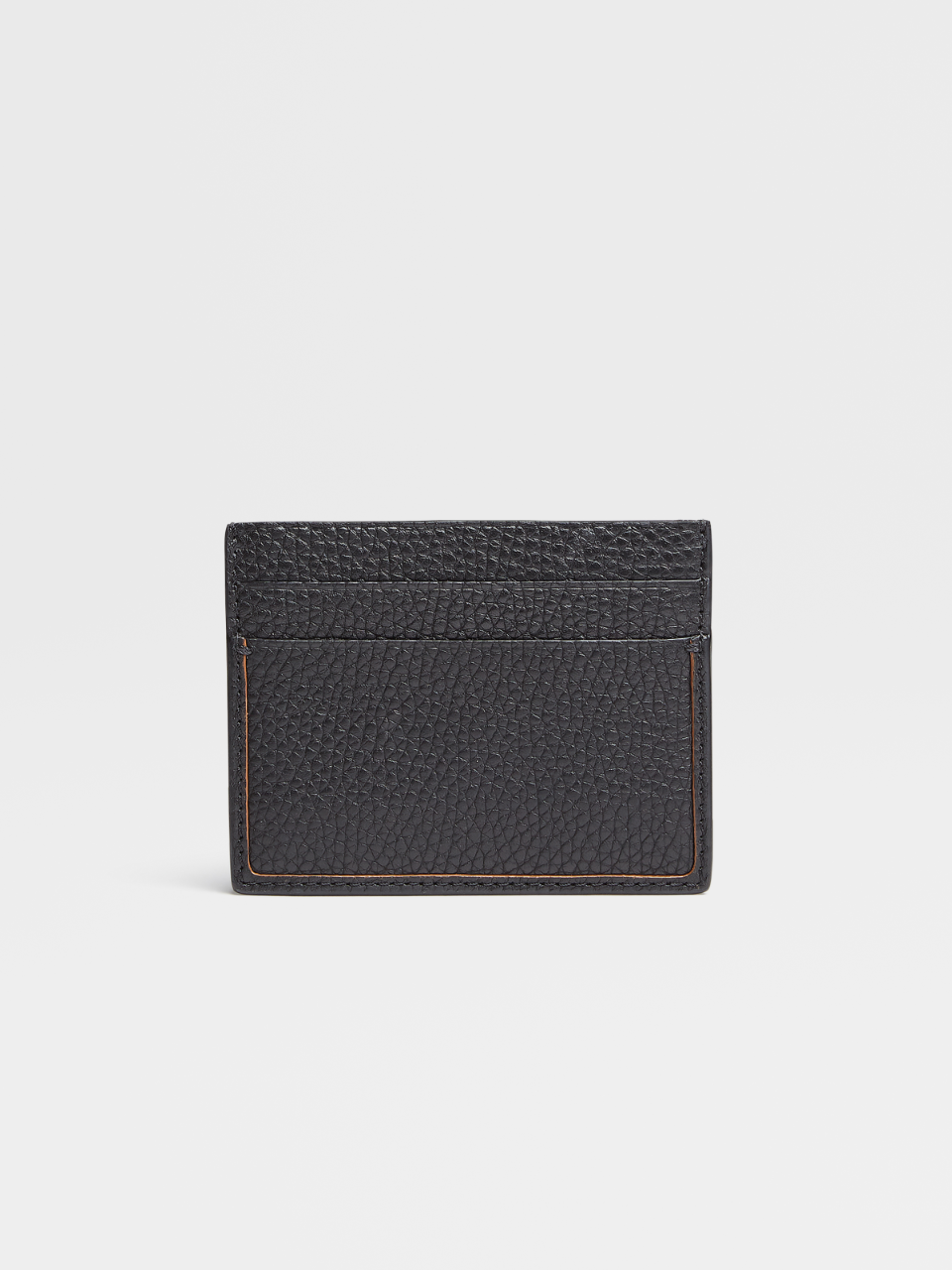 Grained Calfskin Blazer Simple Card Case
