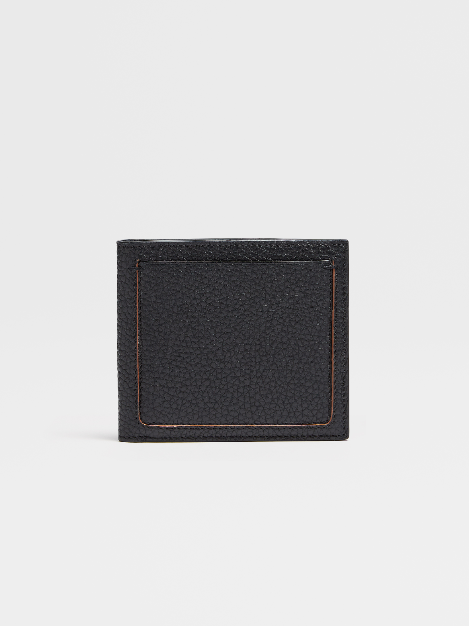 Grained Calfskin Blazer 8cc Billfold Wallet