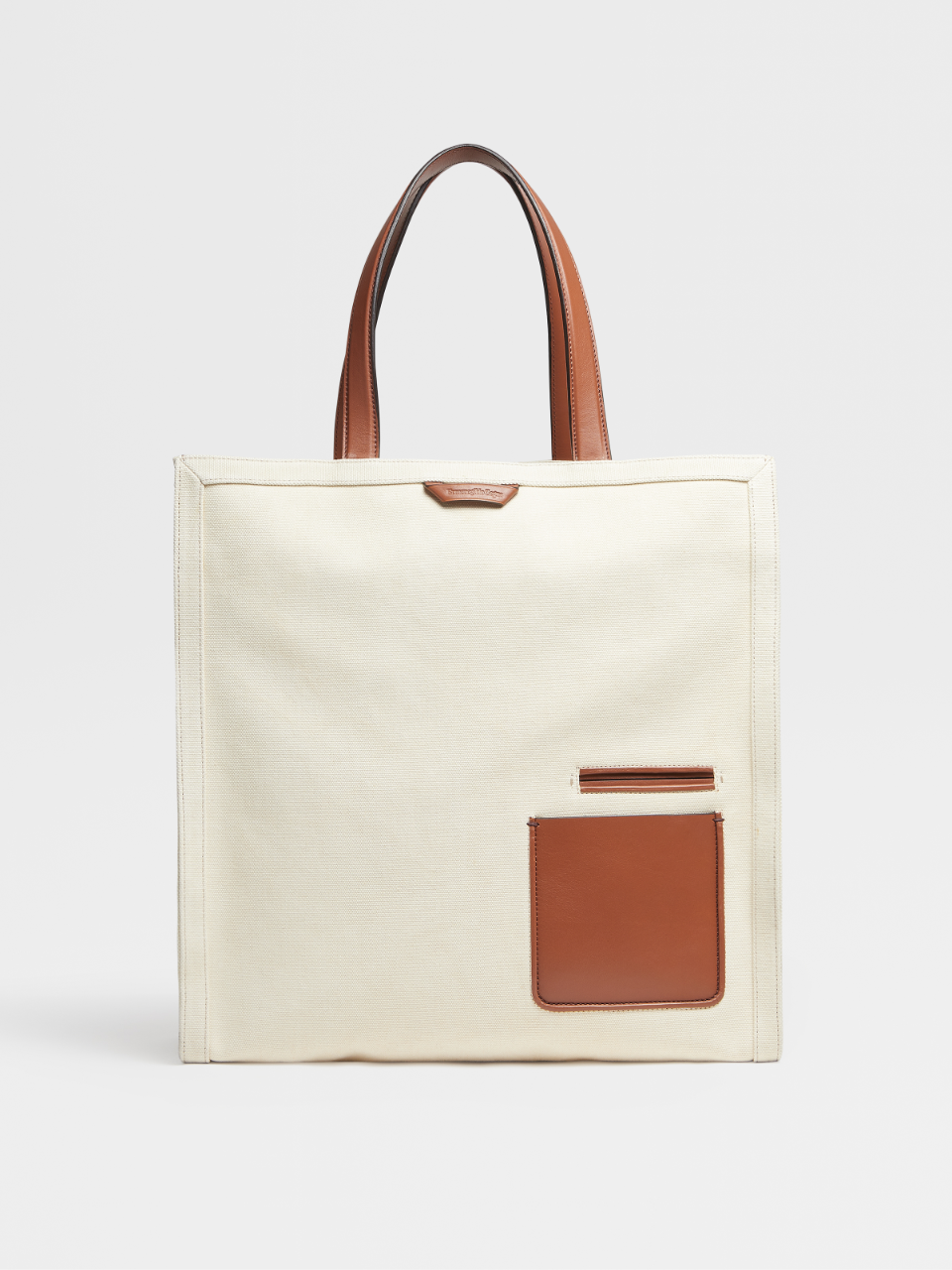 Cotton And Calfskin Blazer Tote Bag