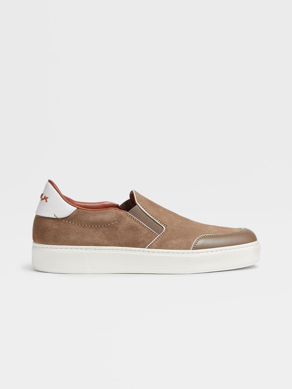 Tiziano Suede And Calf Slip On
