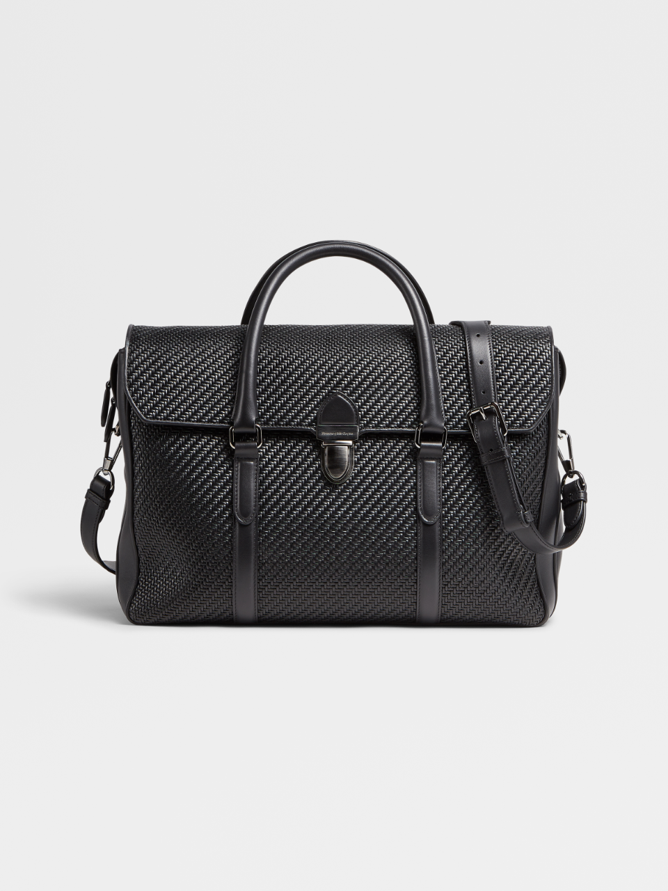 Black Pelletessuta™ Business Bag