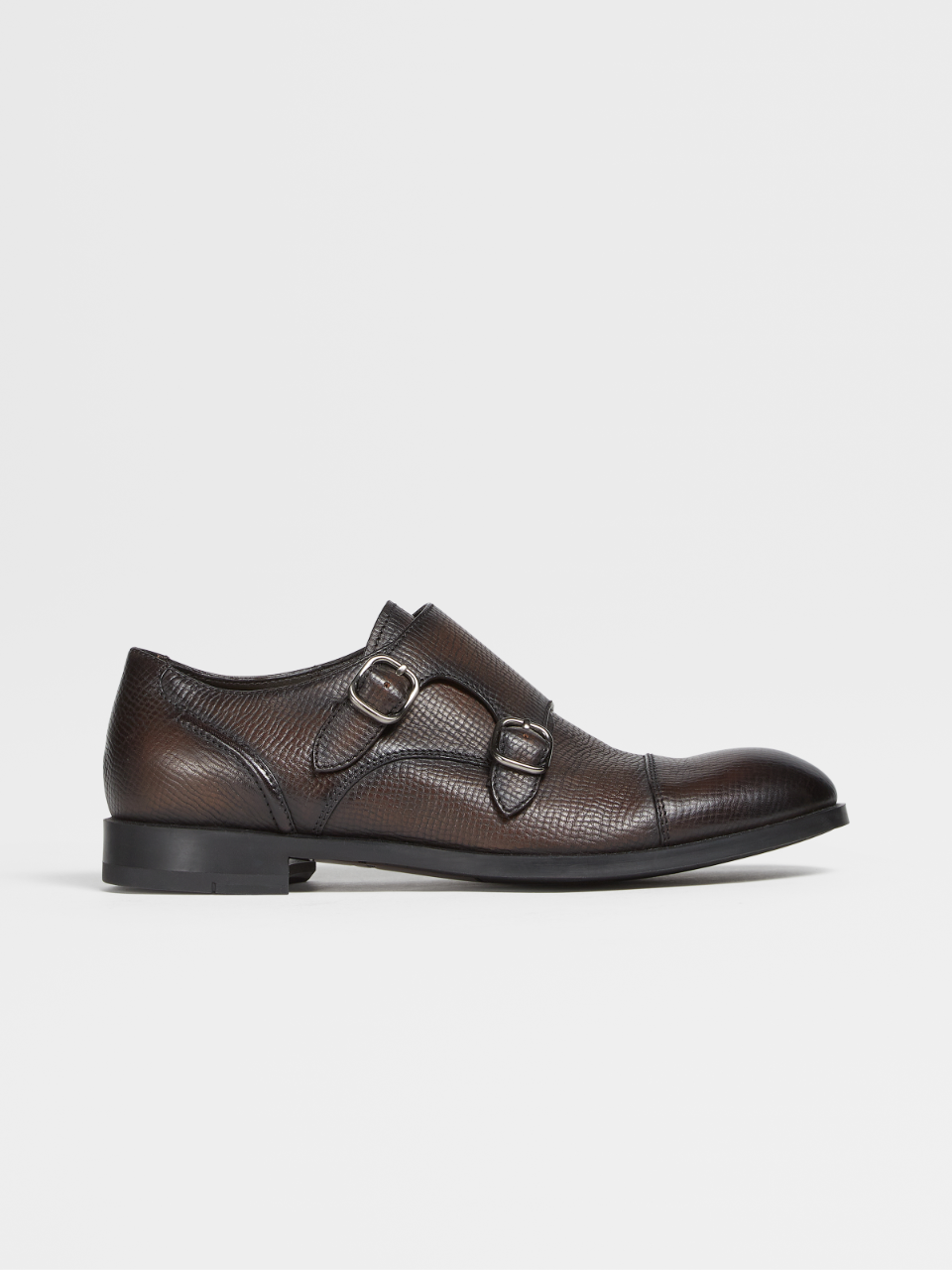 Grained Calfskin Siena Flex Double Monk