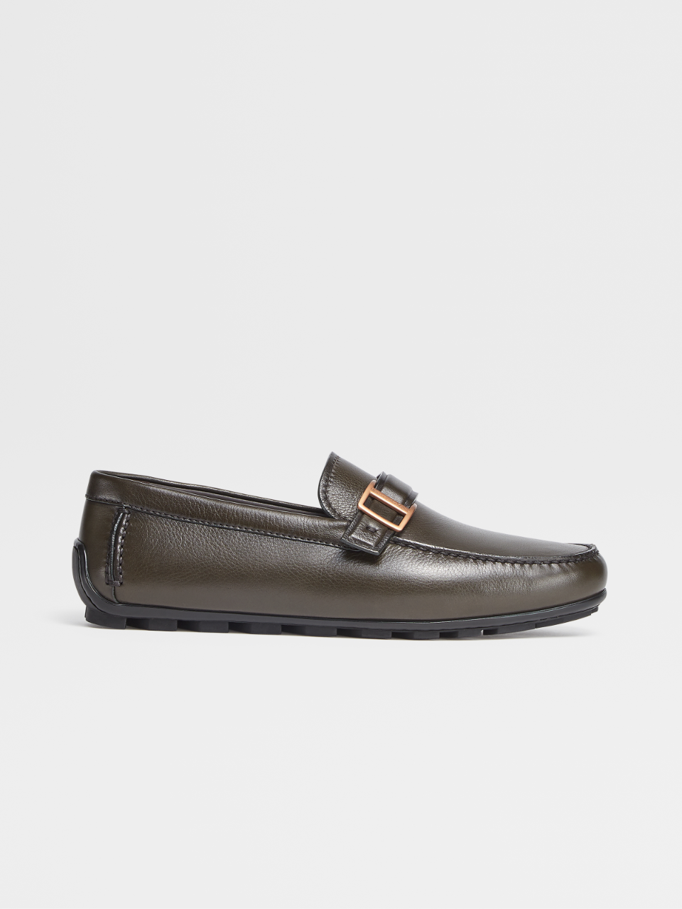 Grained Calfskin Highway Driving Shoes