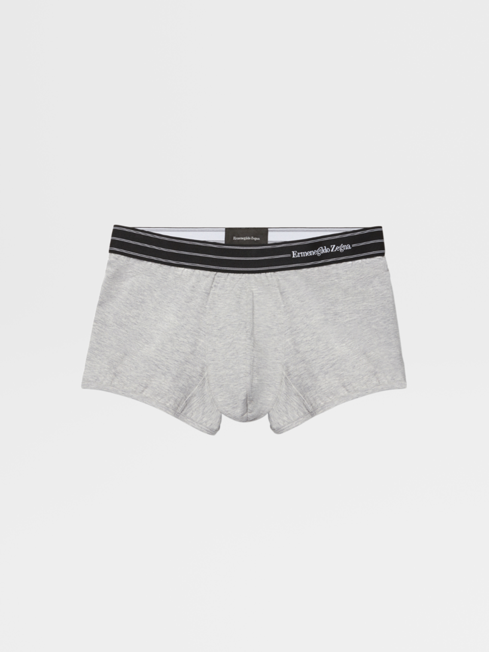 Grey Mélange Stretch Cotton Trunk