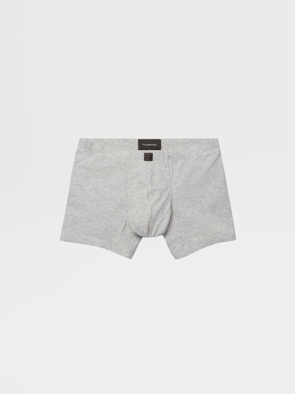 Grey Mélange Stretch Cotton Boxer