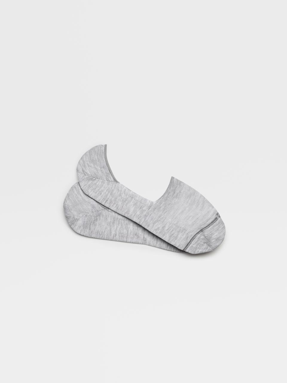 Grey Mesh Cotton No Show Socks