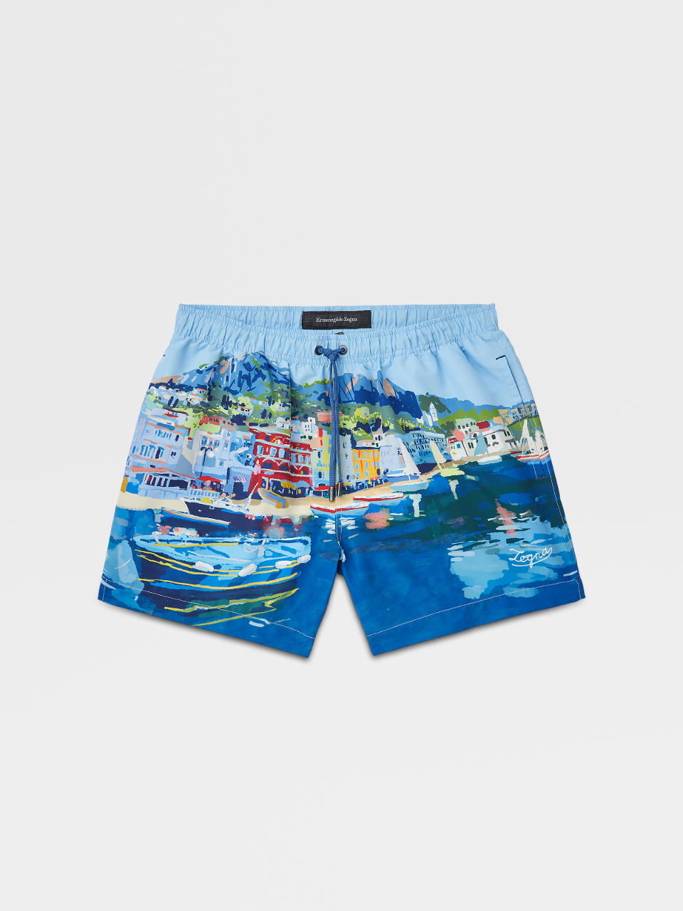 Otranto Watercolor Print Swim Boxers