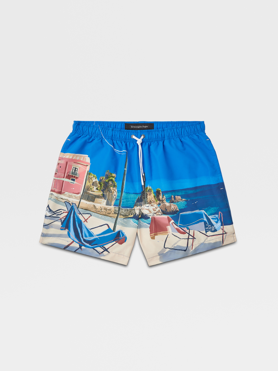 Sicily Watercolor Print Swim Boxers