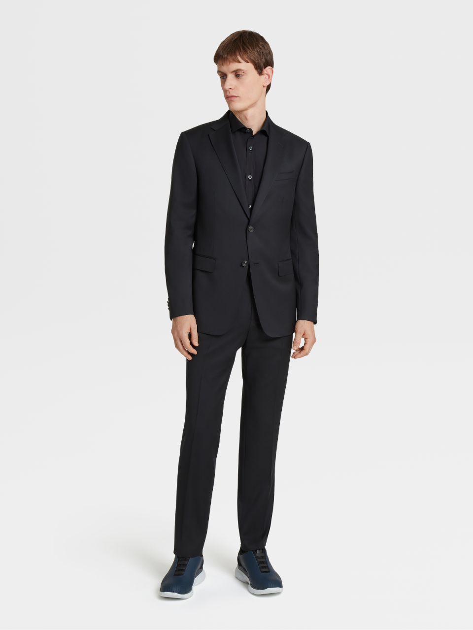 Black Pure Wool Suit