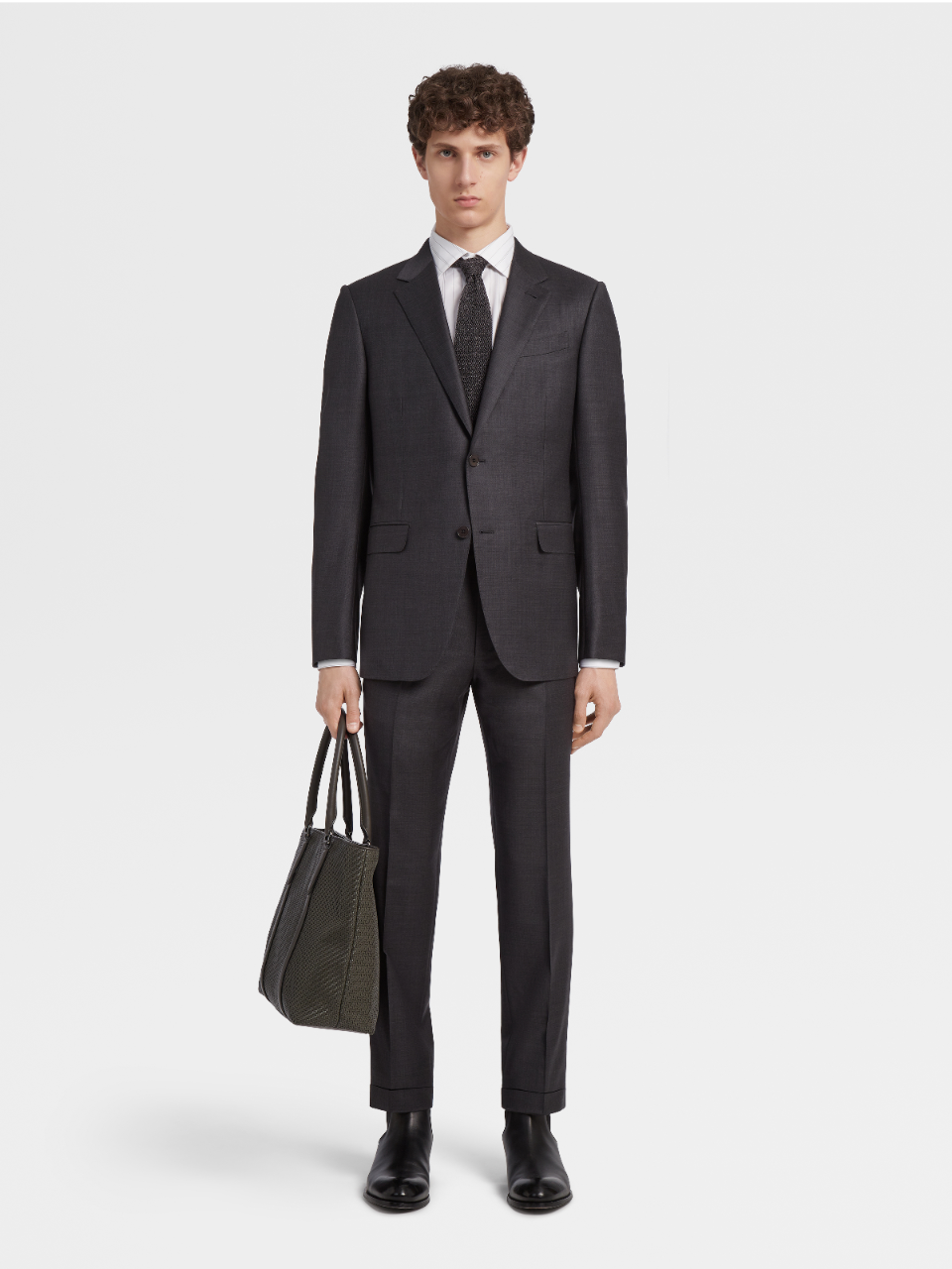 Charcoal Trofeo Wool Pinpoint Suit