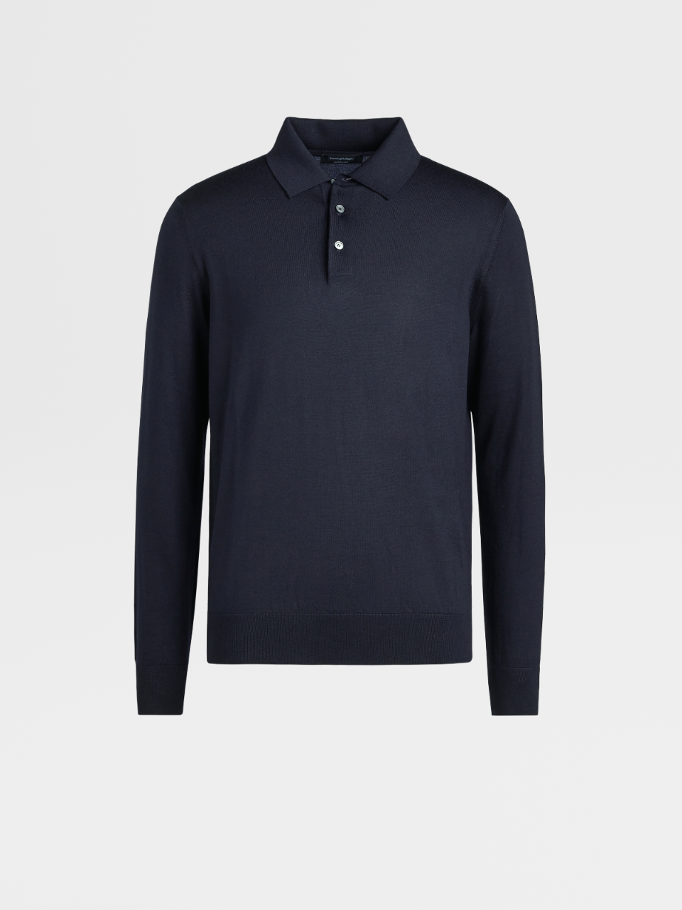 Wool And Silk Knitted Polo