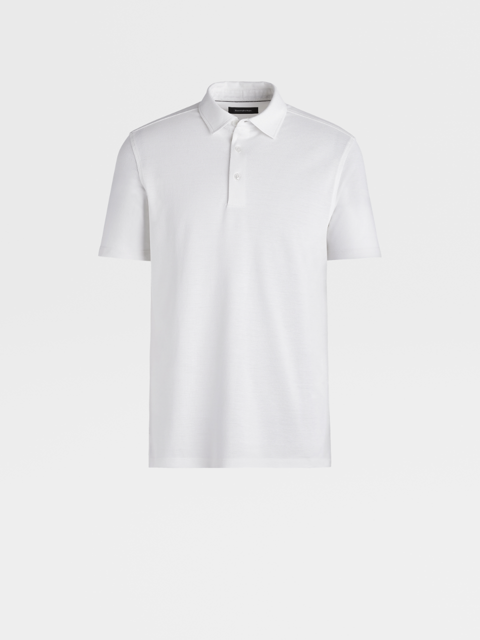 White Cotton/Silk Polo