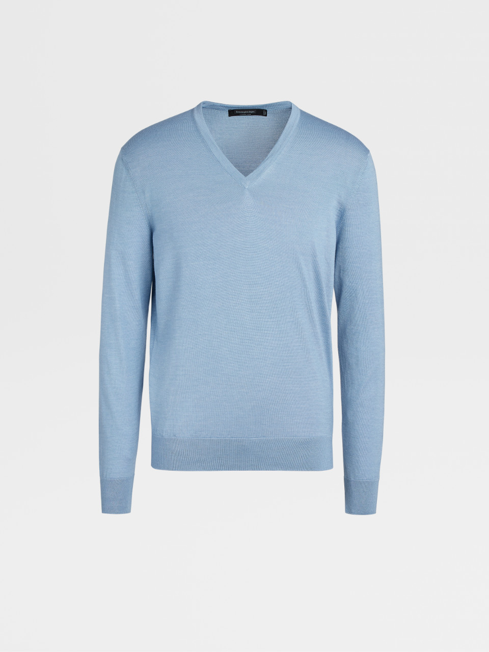 Light Blue Cashmere And Silk Jumper