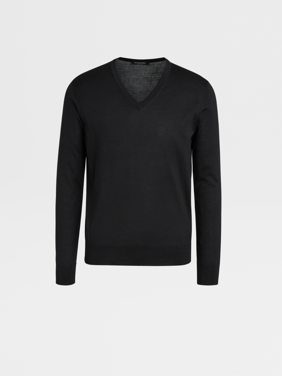 Black Cashmere And Silk Jumper