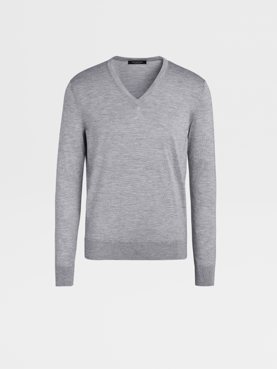 Grey Cashmere And Silk Jumper