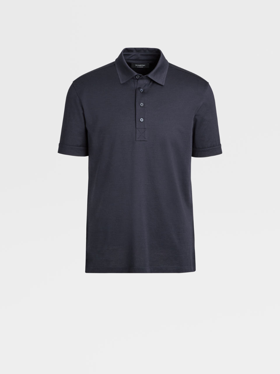 Cotton And Silk Polo Shirt