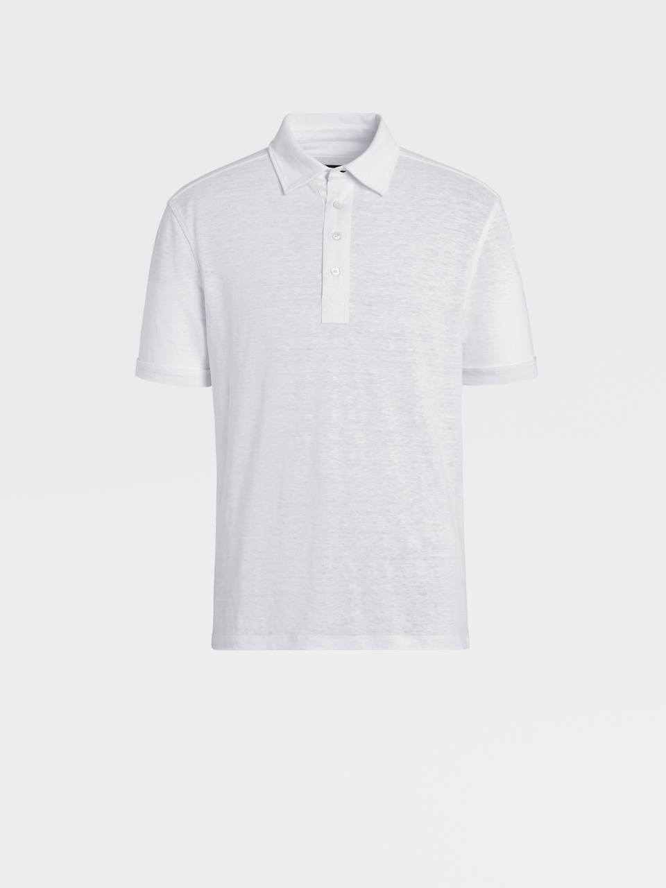 Linen Short-Sleeve Polo