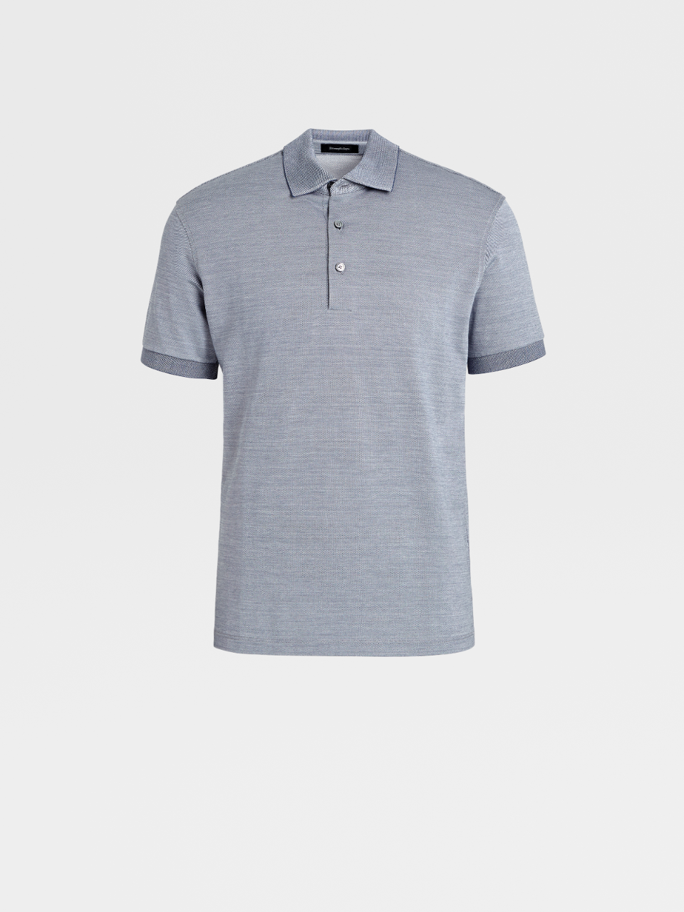 Silk And Cotton Polo