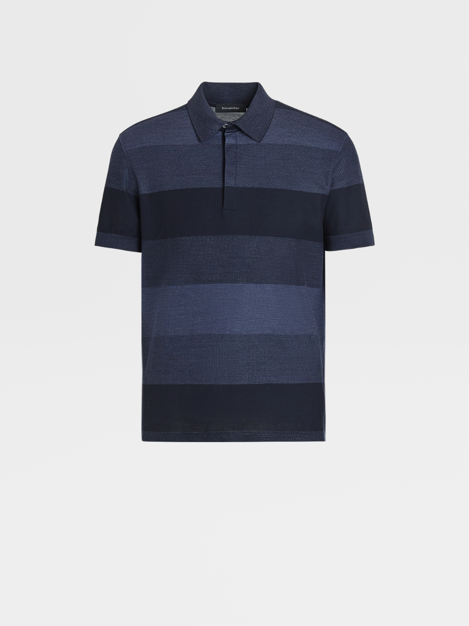 Cotton And Silk Short-Sleeved Polo