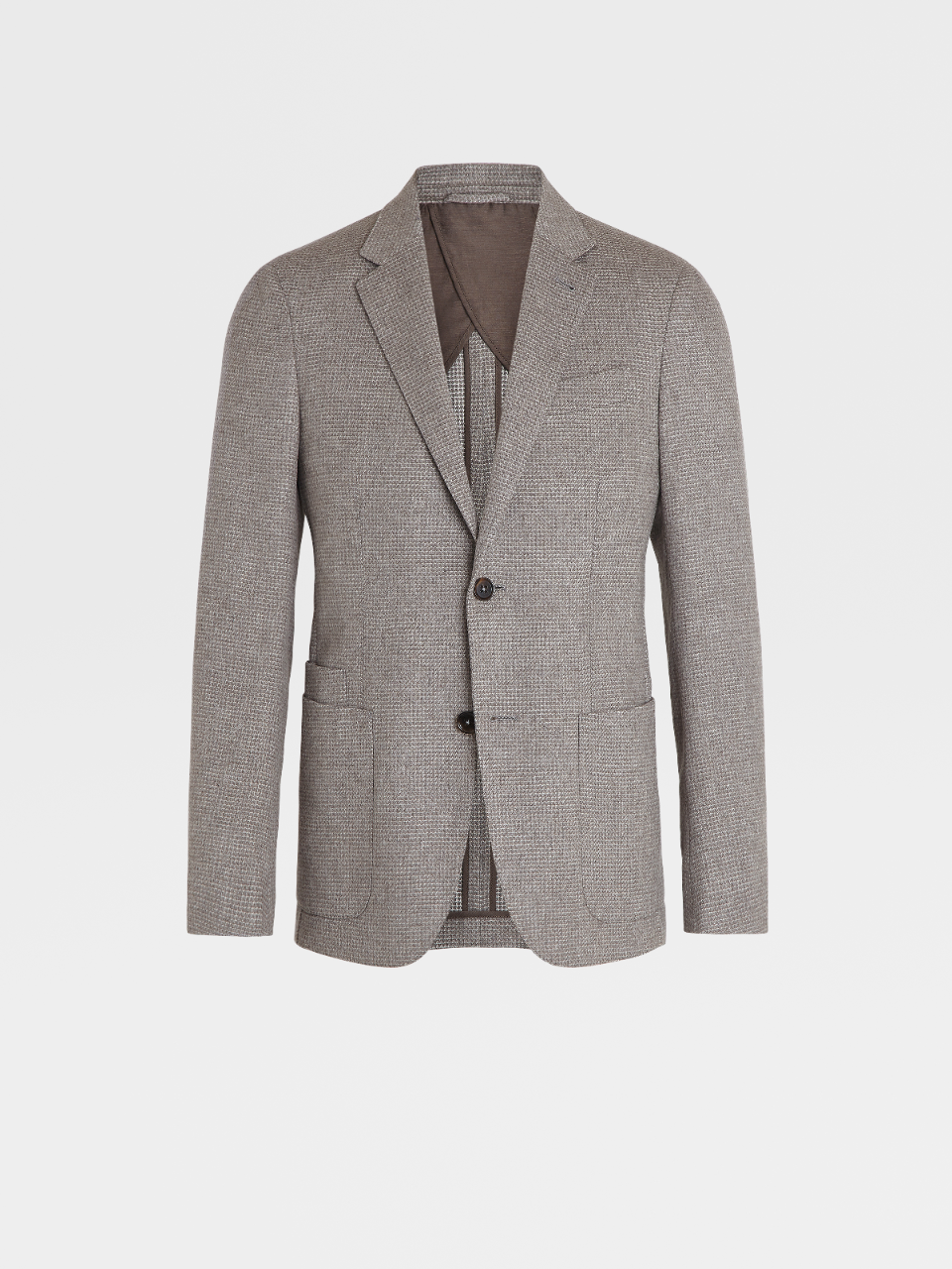 Wool Silk and Cashmere Textured Jacket