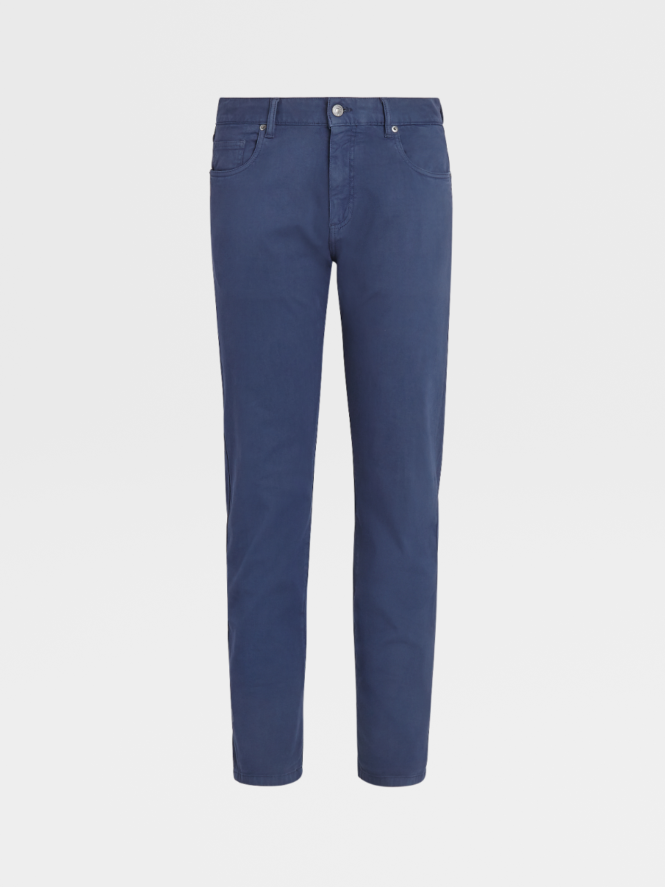 Stretch Cotton And Lyocell Denim Trousers