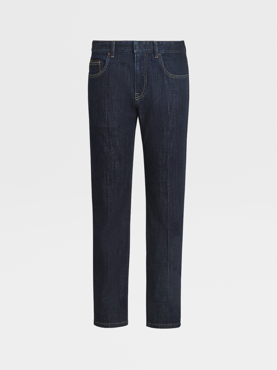 Stretch Cotton Denim Trousers