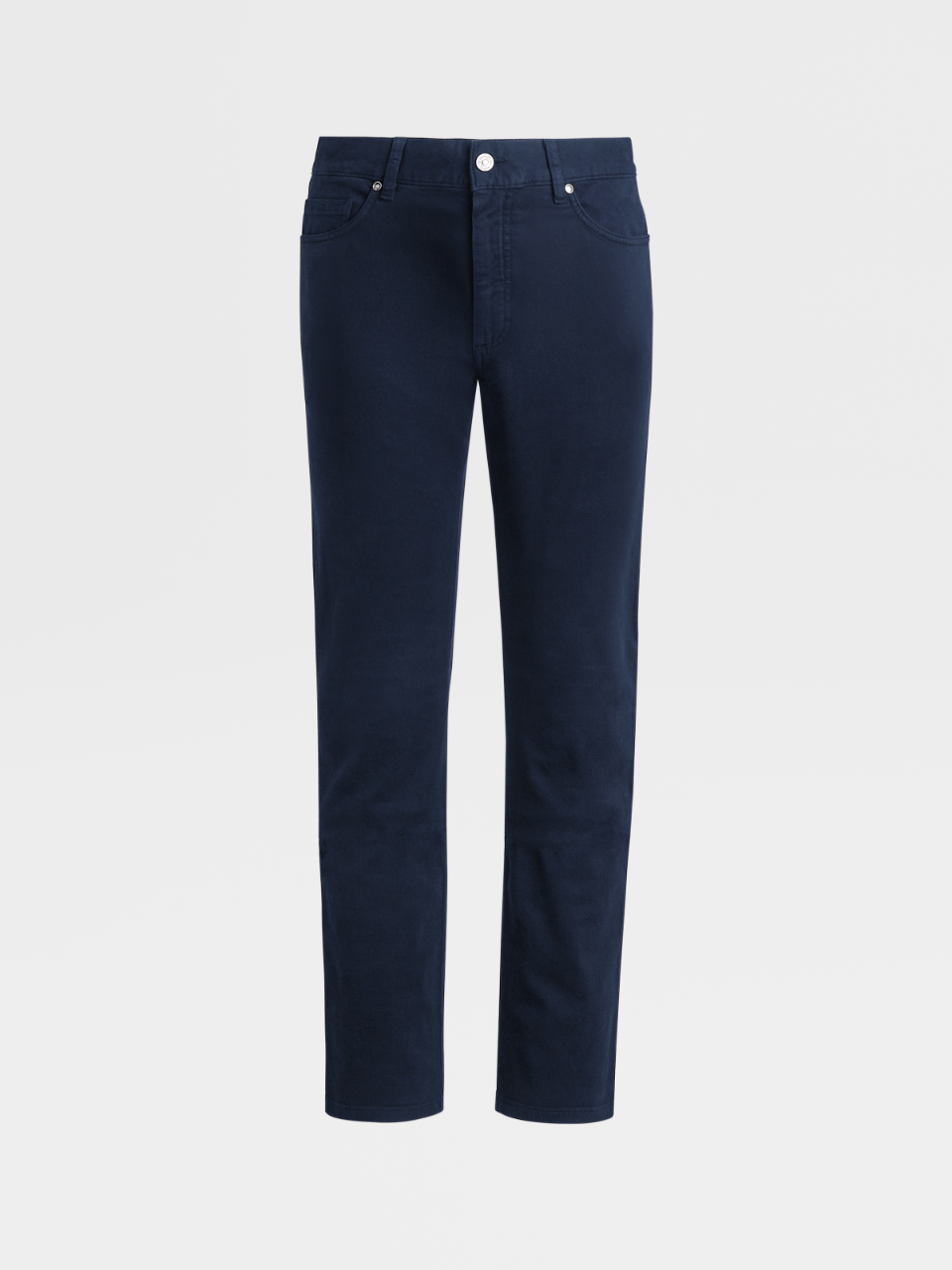 Stretch Cotton Denim 5 Pockets Trousers