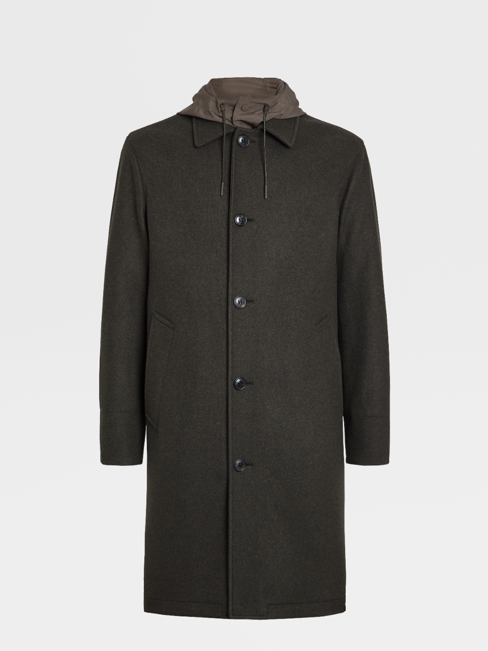 Wool And Cashmere Jersey Coat