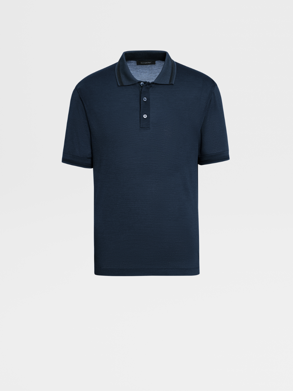 Cotton And Silk Short-sleeve Polo