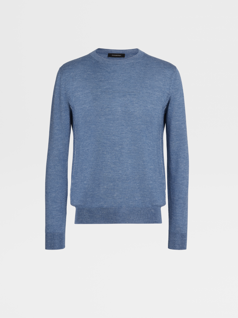 Silk Cashmere And Linen Knit Crewneck