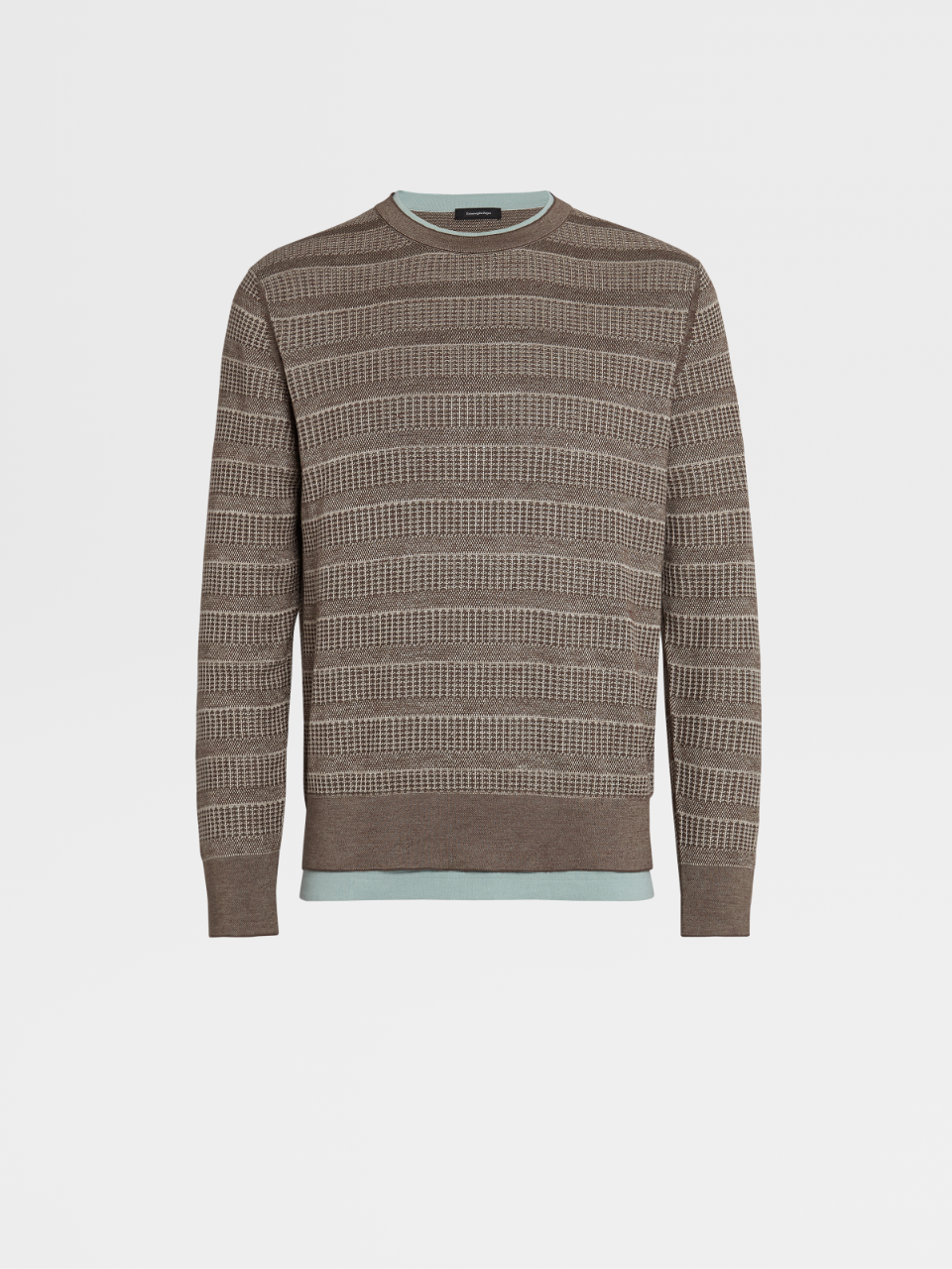 Silk Cotton And Linen Knit Crewneck