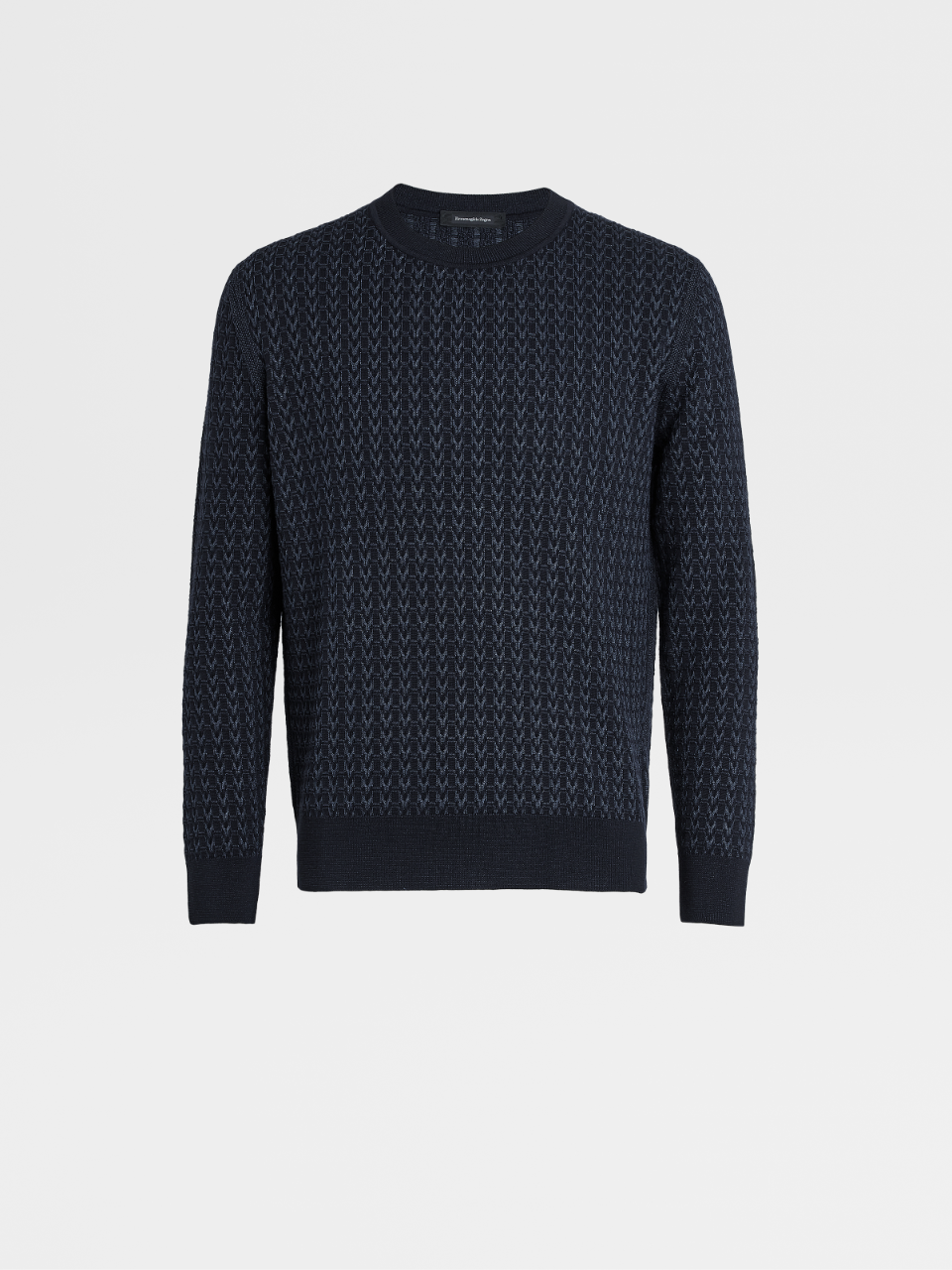 Wool And Silk Knit Crewneck