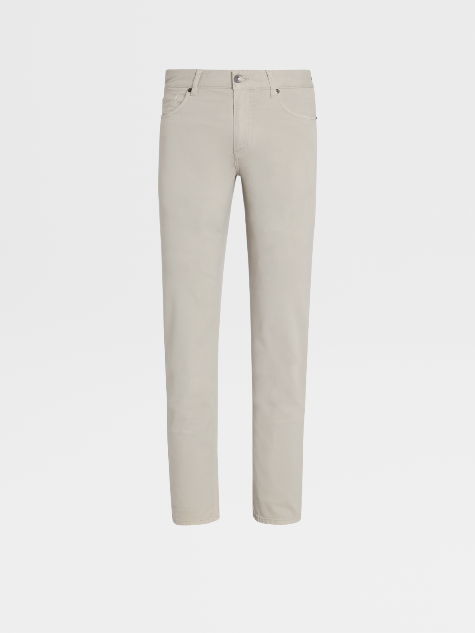 Stretch Cotton And Lyocell 5-Pocket Jeans