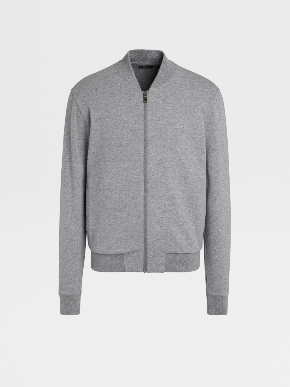 Grey Cotton And Modal Sweatshirt