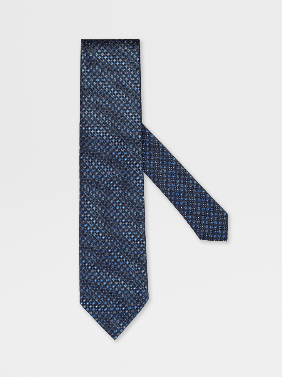 Printed Silk Microdesign Tie