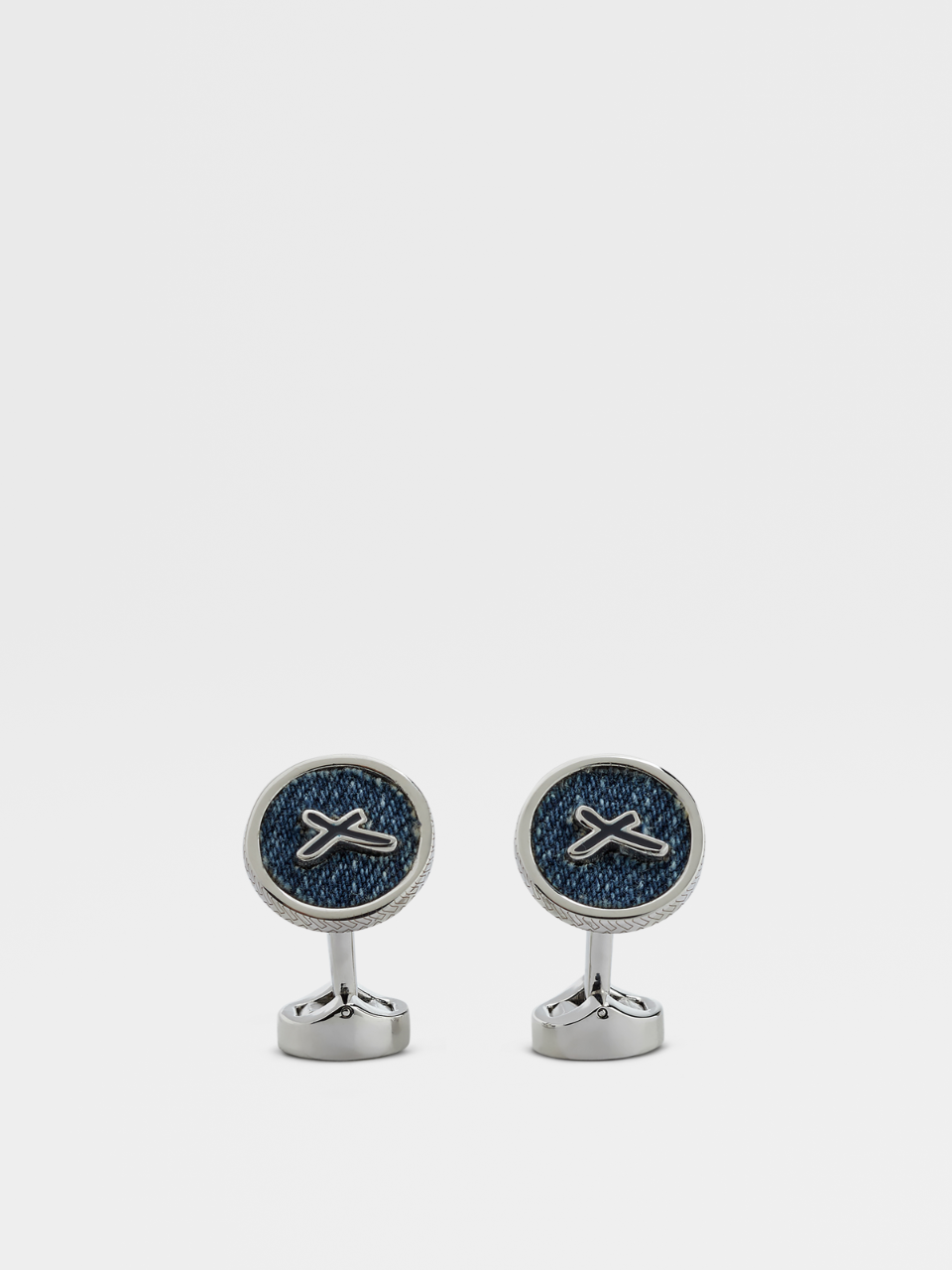 Denim Button Cufflinks