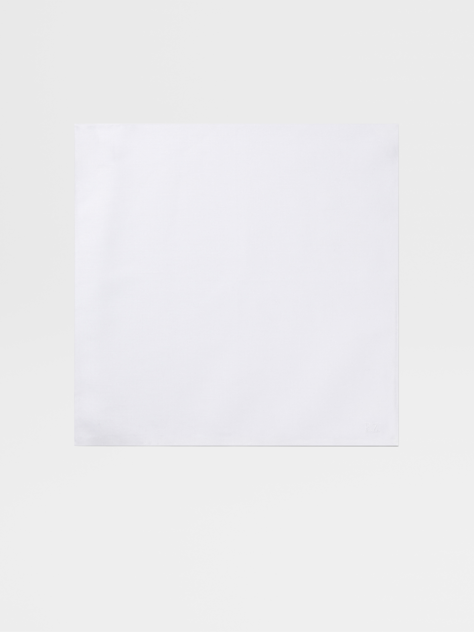 White Cotton/Linen Pocket Square